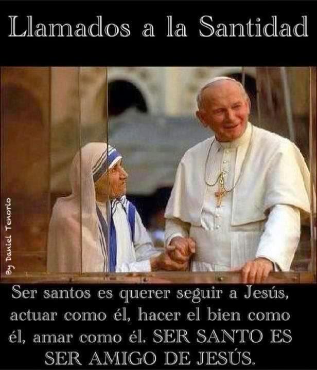 PAPA SAN JUAN PABLO II Y BEATA TERESA DE CALCUTA